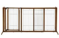 Richell-Deluxe-Freestanding-Pet-Gate-with-Door-Medium