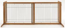 Richell-Wood-Freestanding-Pet-Gate-High-Large-Autumn-Matte-Finish