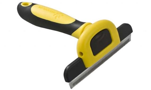 MIU COLOR pet hair brush for dogs deshedding tool review