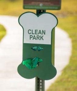 Keep dog park clean