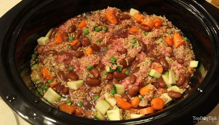 Beef And Rice Crock Pot Homemade Dog Food Recipe Video