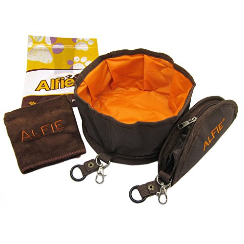 Alfie Pet by Petoga Couture - Fabric Expandable/Collapsible Travel Bowl