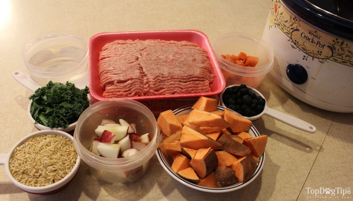 Beef and Pork Crock Pot Dog Food Recipe