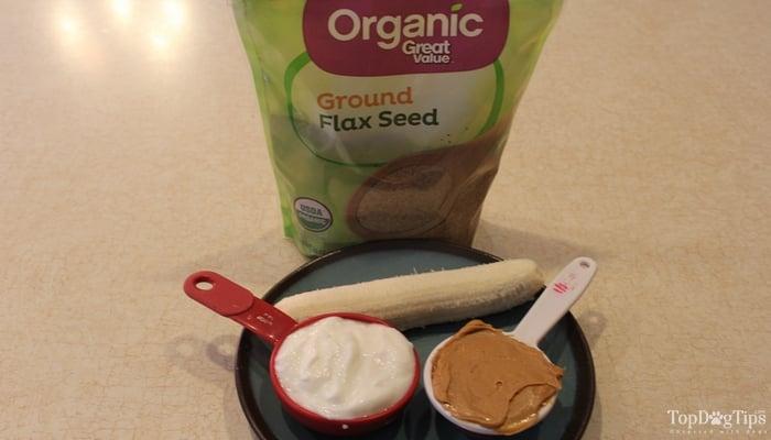Peanut Butter and Banana Frozen Dog Treat Recipe