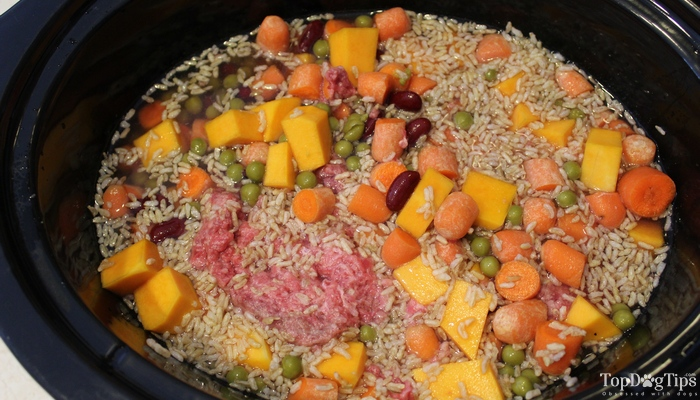 Beef and Kidney Bean Crock Pot Dog Food Recipe