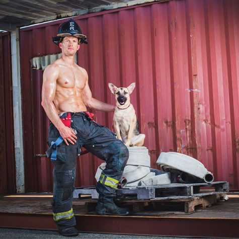 Hunky Firefighter Adopts Homeless Dog After Photoshoot