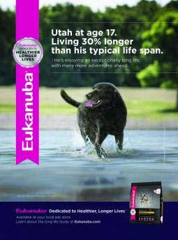 Eukanuba dog food ad