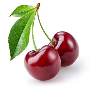 What a big sweet cherry looks like?
