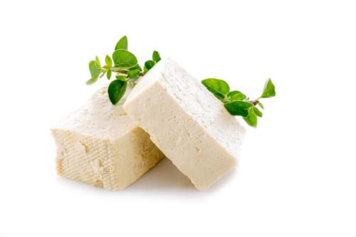 What does raw tofu look like