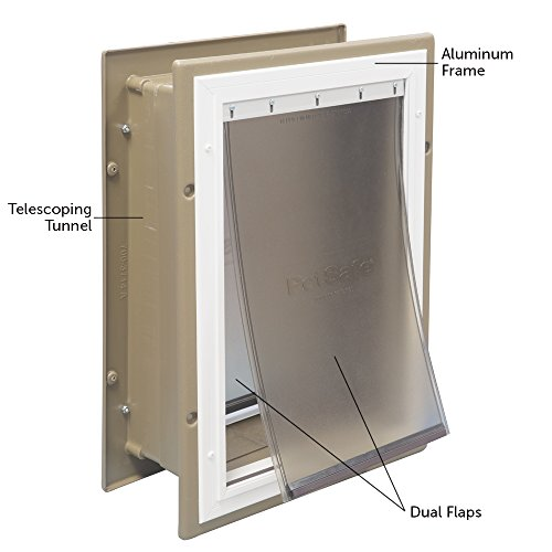 Telescoping Aluminum Wall Entry Pet Door by PetSafe