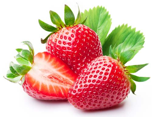 What do strawberries look like