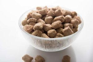 What does freeze-dried dog food look like
