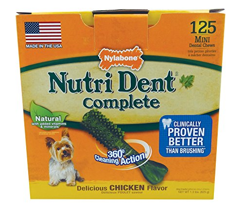 Nylabone Nutri Dent Complete Dog Treat Bones for Petite Dogs