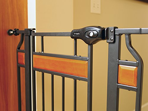 Regalo pressure-mounted dog gate.