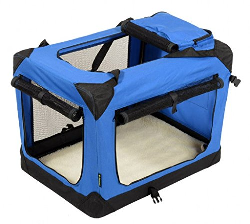 jespet deluxe blue u0026 beige soft dog crate - Soft Dog Crates