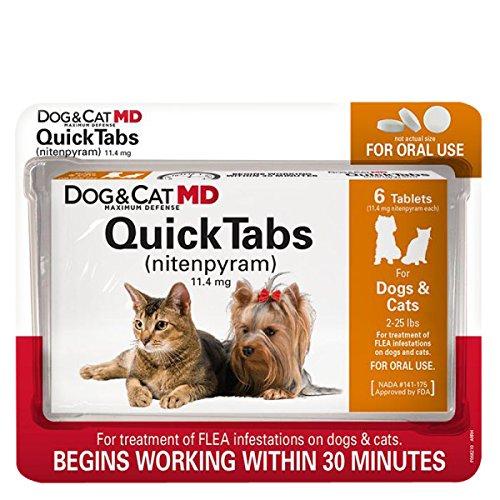Dog & Cat MD Maximum Defense QuickTabs Nitenpyram Flea Treatment