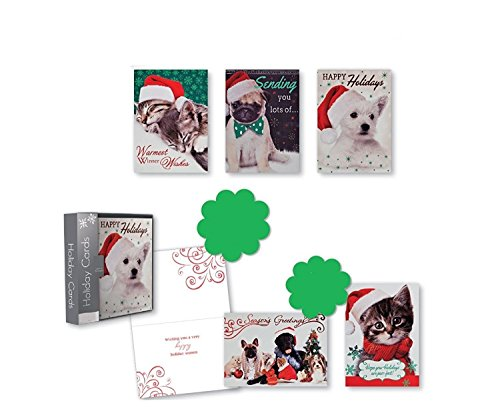 Christmas Holiday Boxed Cards Photographic Pets