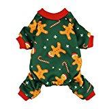 Fitwarm Christmas Gingerbread Man Dog Pajamas