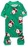Lanyar's Christmas Dogs Pajamas - Green Santa Claus