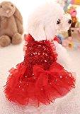 MaruPet Fashion Puppy Dog Love Printed Princess Tutu Dress