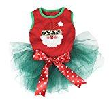 Petitebella's Dog Dress - Christmas Santa Claus Head