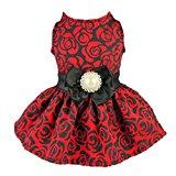 Fitwarm Elegant Rose Dog Dress for Pets
