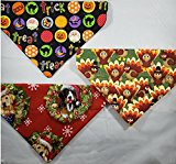 Bandit's Bandanas Set of 3 Holiday Dog Bandanas