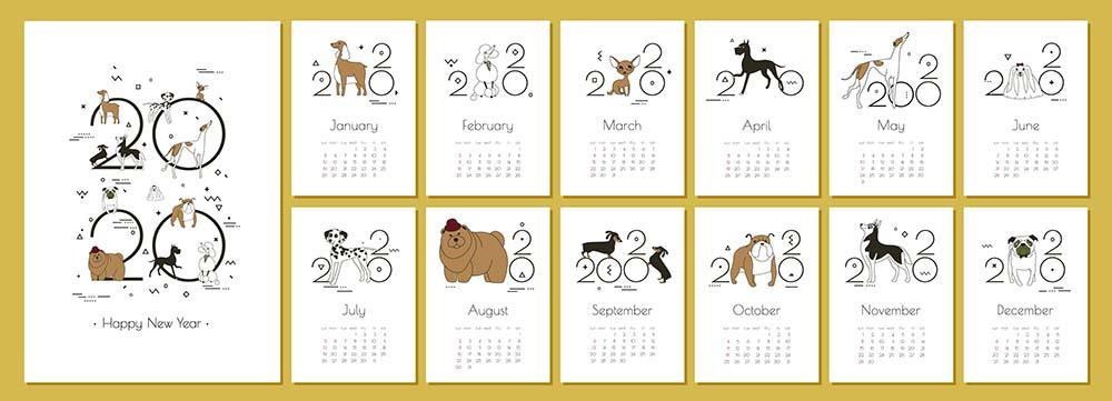 Dog Holidays 2020 Calendar - low res