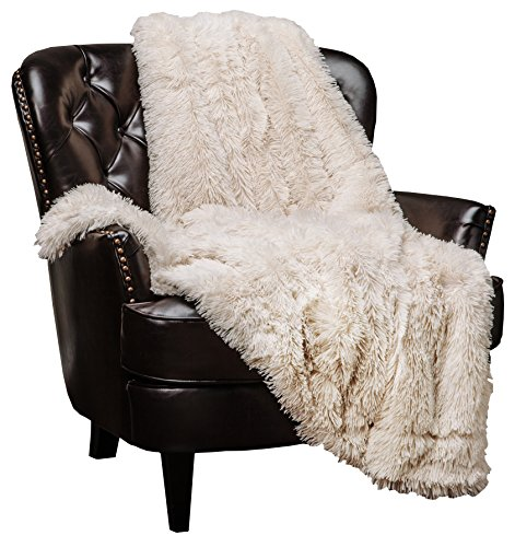 Super Soft Ivory Creme Microfiber Throw Blanket