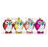 iPEGTOP Shatterproof Christmas Owls Ornaments