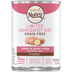 NUTRO Limited Ingredient Diet Adult Farm Raised Turkey and Potato Recipe Canned Dog Food