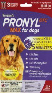 Sergeant's Pronyl OTC Max Dog Flea and Tick Drops