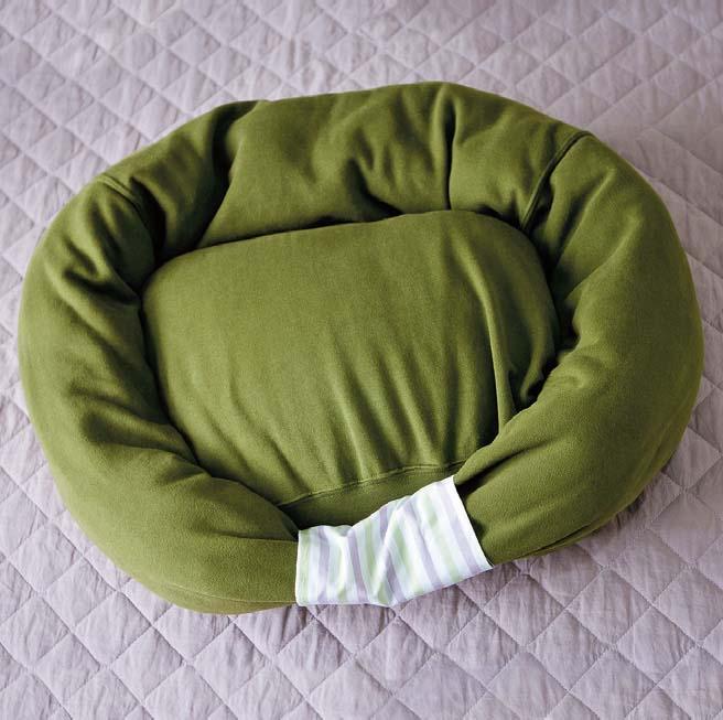 Used Sweatshirts or Hoodies for Dog Bed