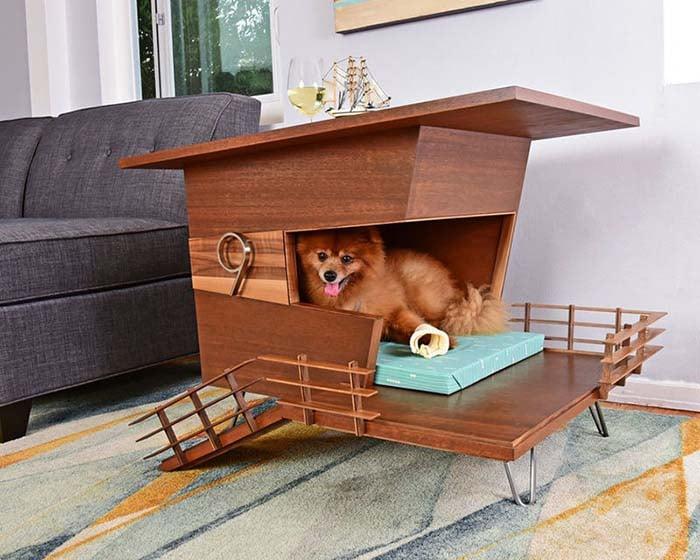 Wooden Contemporary Dog Houses - Pijuan Design Workshop