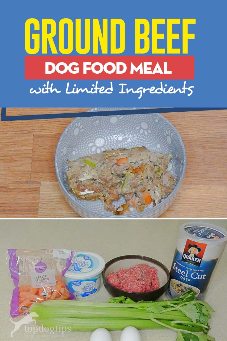 Healthy Ground Beef Dog Food Meal with Limited Ingredients Recipe