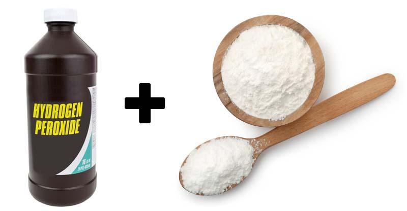 hydrogen peroxide and cornstarch paste
