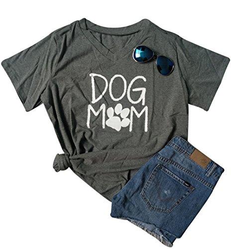 LUKYCILD Women Dog Mom T-Shirt