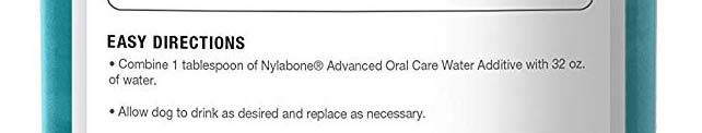 Nylabone water dental additive for dogs