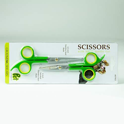 Japanese Steel Pet Grooming Scissors (Pack of 2) by Pet Magasin