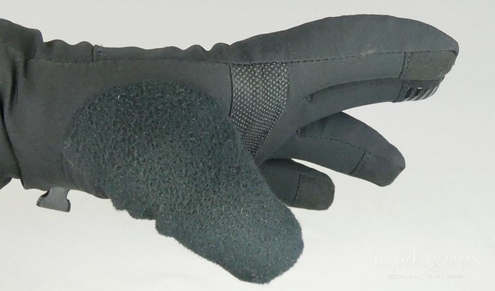 fleece thumb close up