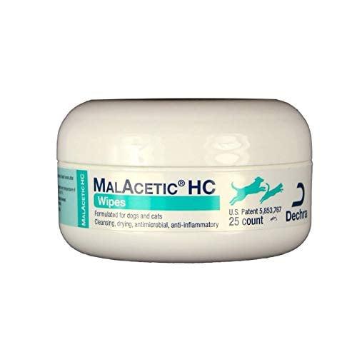 MalAcetic HC Antiseptic Dog Wipes by DechraSupply