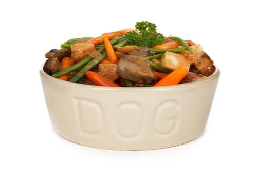 homemade dog food beef stew