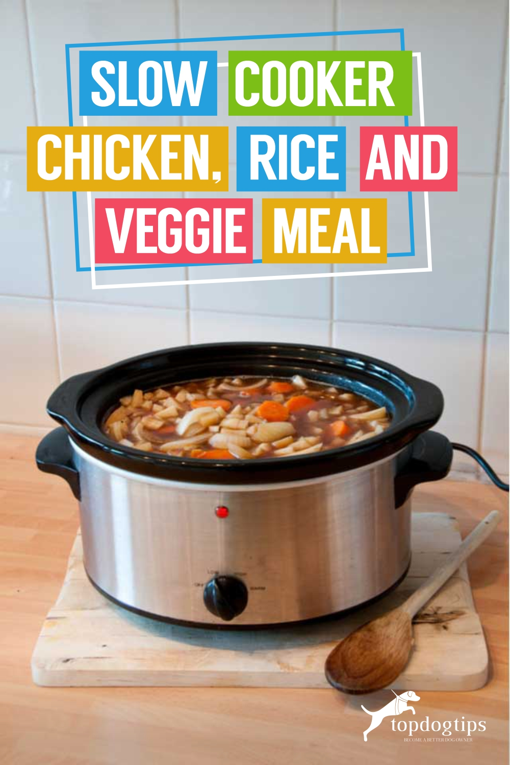 Slow Cooker Chicken, Rice and Veggie Meal