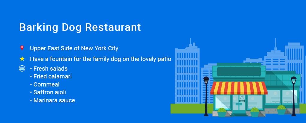 Barking Dog, dog friendly restaurants