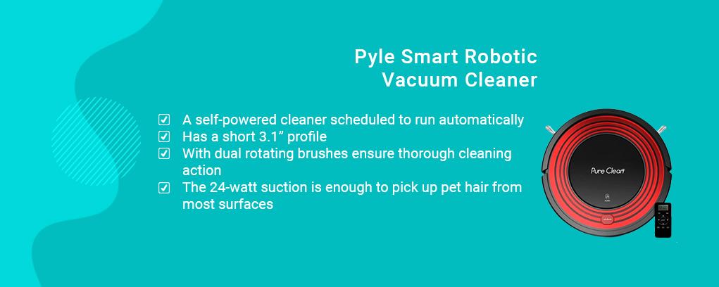 Pyle Smart Robotic Vacuum Cleaner