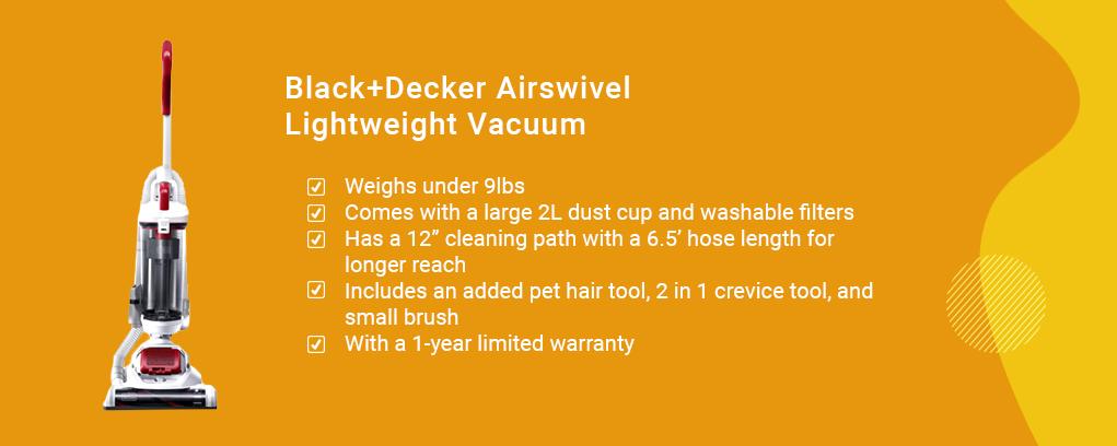 Black+Decker Airswivel Lightweight Vacuum